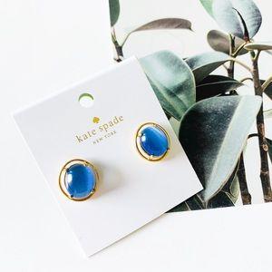 🌺🌺Kate Spade Cat Eye Stud Earrings Blue